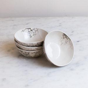 set of 4 small dapple dipping bowls